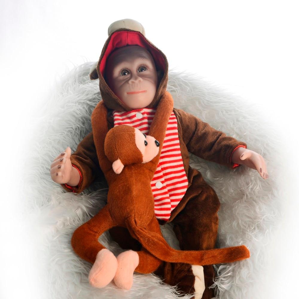 46cm Realistic monkey doll Silicone Reborn Baby Dolls For kids Playmates bebes Dolls Reborn Surprise Boneca Gift for children46cm Realistic monkey doll Silicone Reborn Baby Dolls For kids Playmates bebes Dolls Reborn Surprise Boneca Gift for children