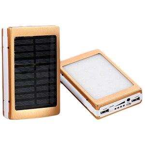 5x18650 Powerbank Portable Pover Power Bank 18650 Solar Power Bank Case DIY Box Dual USB Kit Phone Charger Flashlight(China)
