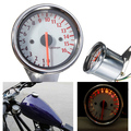 Universal Silver Motorcycle Dual Tachometer Speedometer Gauge LED Light 16000RPM