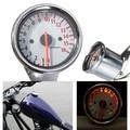 Universal Silver Motorcycle Dual Tachometer Speedometer Gauge LED Light 16000RPM