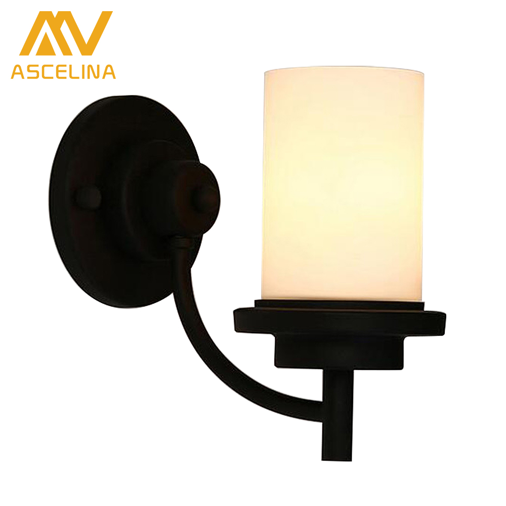 American iron Single head Wall Lamp Retro Wrought Corridor Lights Industry Simple Style Wall Sconce for Cafe Bar Home Decoration however excellent home lounge bar cafe retro simple fast food restaurant to do the old wrought iron chairs navy chair