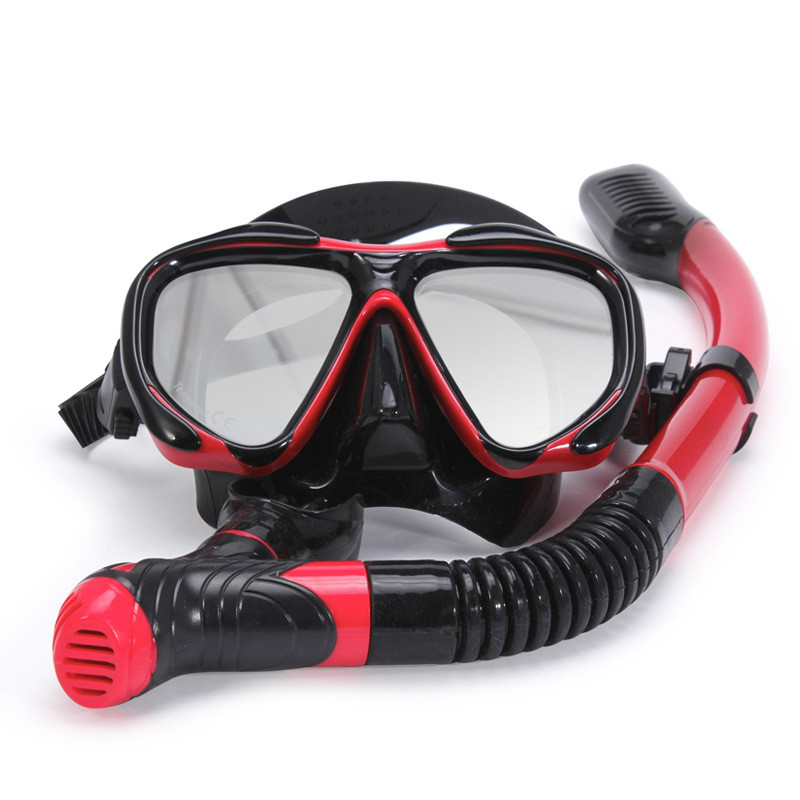 Professional Scuba Diving Mask With Dry Snorkel Snorkel Set Anti-fog Swimming Goggles Wide Vision Underwater Sports Swim Eyewer цена