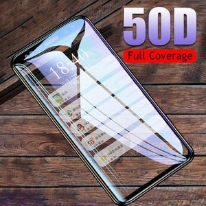 50D كامل منحني الزجاج المقسى لسامسونج غالاكسي S9 S8 زائد ملاحظة 9 8 واقي للشاشة لسامسونج S7 S6 حافة s9 طبقة رقيقة واقية
