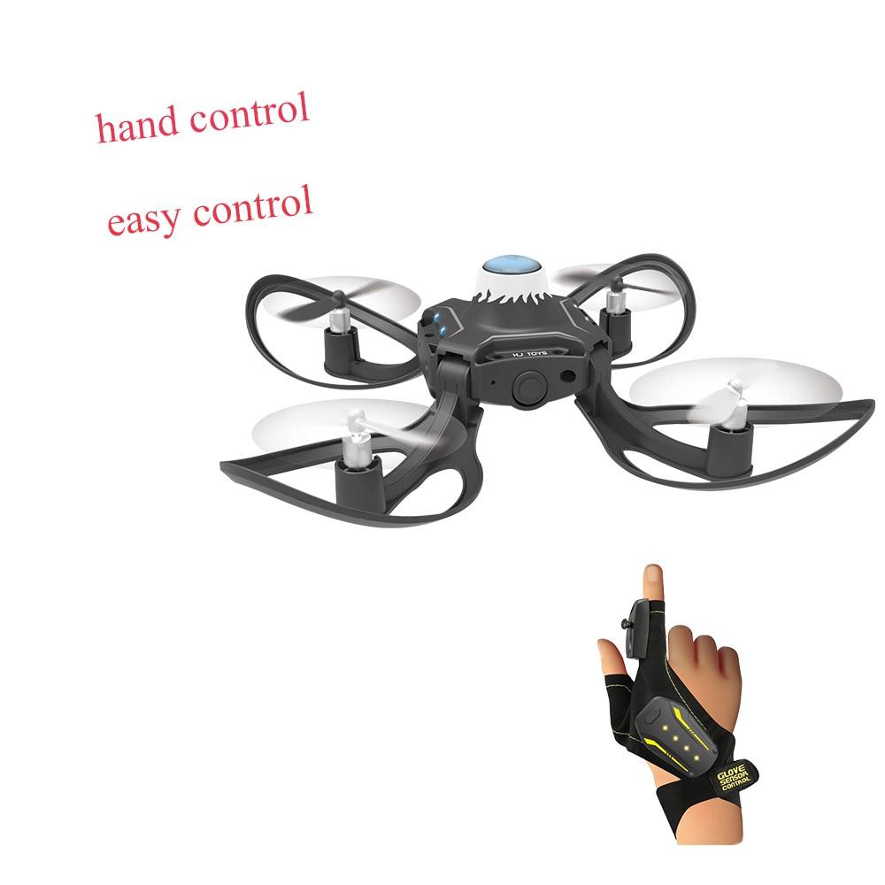 Mini Drone pliable Bras 2.4G Gant Geste de Détection Mouvement Contrôle Drone Un Retour Key Geste Rouleau Drone Pour Enfants cadeau