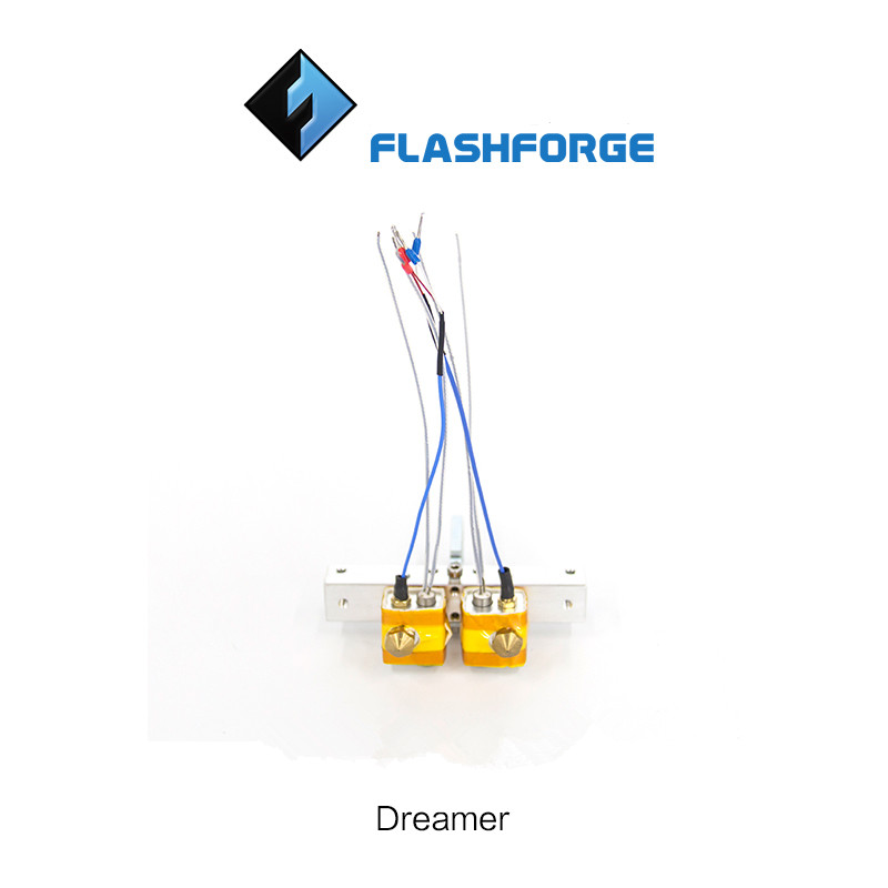 Funssor1set* dual extrusion assembly kit for Flashforge Dreamer Bar Mount Assembly set Thermocouple For Dreamer printer a funssor 1set flashforge dual extruder assembly kit for flashforge 1 75mm fast ship