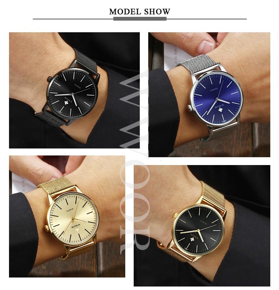 HTB1QClRkgDD8KJjy0Fdq6AjvXXaA WWOOR Men Simple Slim Quartz Watch Gold Steel Mesh Ultra Thin Men Watches Luxury Brand Waterproof Male Wrist Watch Golden Clock