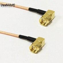 SMA Мужской Прямоугольный переключатель SMA мужской 90 градусов Соединительный кабель RG316 по оптовой цене быстрая 15 см/40 см/100 см адаптер