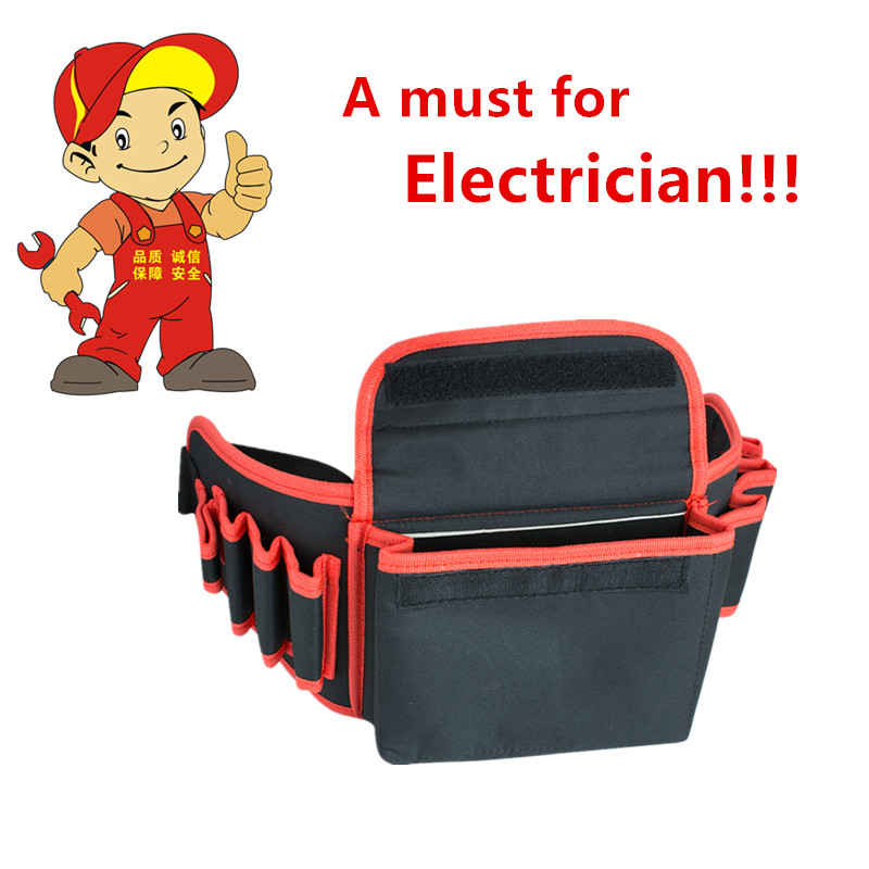 Electrical Tool Kit Electrician Waterproof Pouch Tool Bag Pocket Belt Holder Work Professional Store