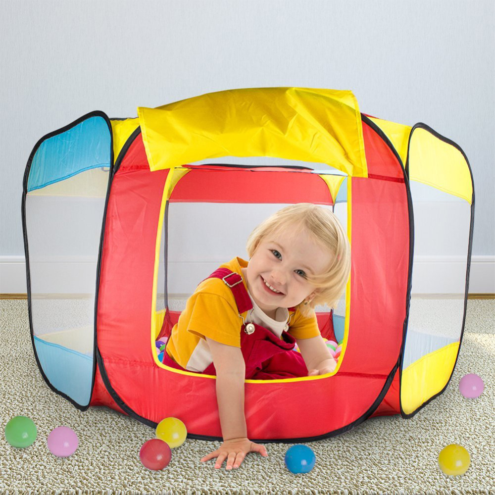New Fun Kids Playing House Pool Ocean Ball Pool Pit Foldable Hideaway Tent Play Hut Game Baby Toys Play Tent Kids Birthday Gift indoor and outdoor kids play tent foldable pool tube teepee game room kids play house children birthday gift toys