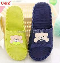 Household cartoon slippers non-slip bathroom slippers summer female/male cute Flip Flops,couple indoor bath slippers for lovers