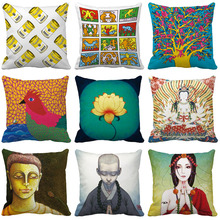 European Cushion cover Cover Nordic Simple Geometric Decorative Throw Pillow Covers for Sofa Polyester Cotton