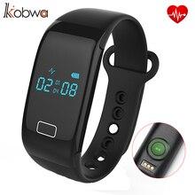 KOBWA Bt4.0 Smartband Браслет Монитор Сердечного ритма Деятельности Фитнес-Трекер Bluetooth Браслет Сердце Для Ios Android Смартфон