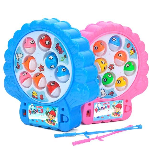 Magnética Pesca Juego Juguetes Para Niños Rotación Automática Juegos De Mesa  Para Ninos Pesca Juguete Con
