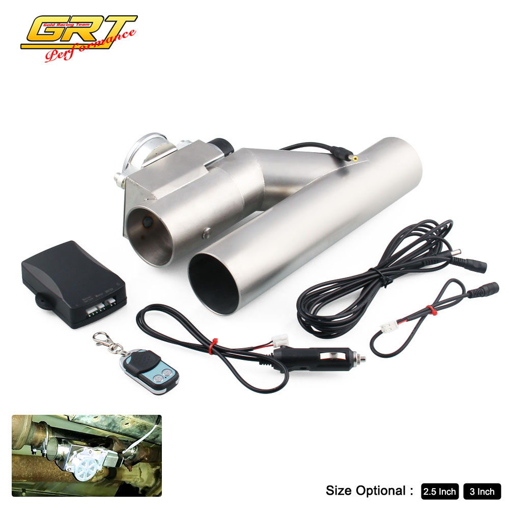 GRT Universal car new style 2 5 3 Dump Valve Electric Exhaust Cutout Pipe with Wireless