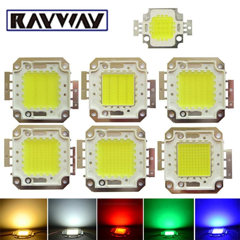 RAYWAY High Power Epistar COB LED Chip 10W 20W 30W 50W 100W Integrated SMD For DIY Floodlight Spotlight R/G/B Warm White /White