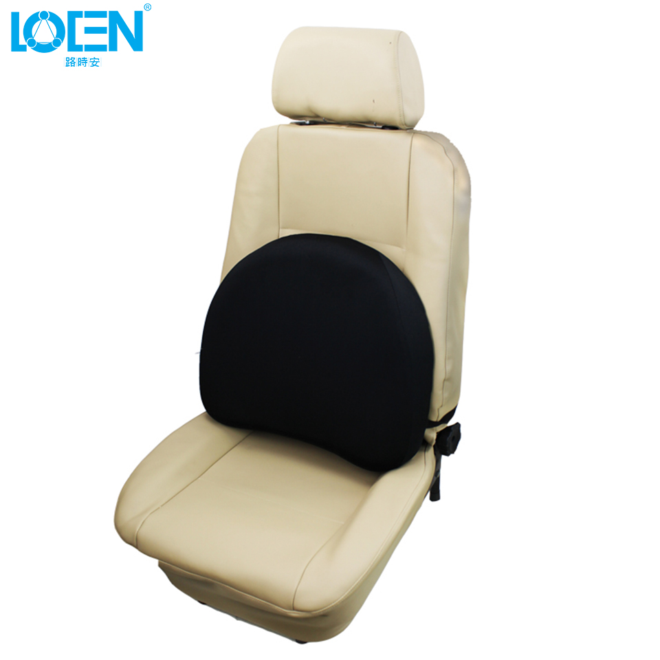 1PCS Two Use Car Lumbar Support Wait Rest&Seat Cushion 43*47cm Black Slow Rebound Memory Cotton For Cars Home/Office Chair