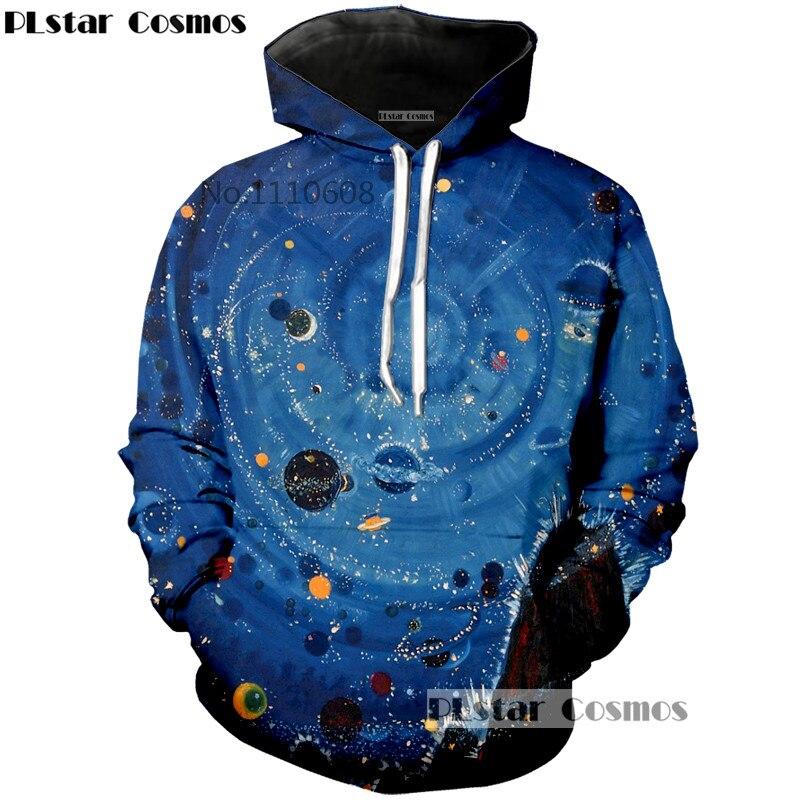 PLstar Cosmos brand New Galaxy Space Hoodie 3D Funny Print Tops Hoody Men Fashion Hooded Sweatshirt Free Shipping S-5XL