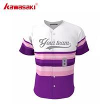 Kawasaki Brand Custom Men Women Baseball Jersey Shirt Breathable Stripes Unisex kids Softball jerseys Top Team Clothing