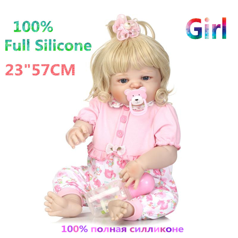 23 Newest Realistic Full Silicone Doll Reborn Toys for Children Brinquedo Baby Dolls Alive Menina Girl Reborn Doll RB16-05H10 christmas gifts in europe and america early education 100% full body silicone doll reborn babies brinquedo lifelike rb16 12h10