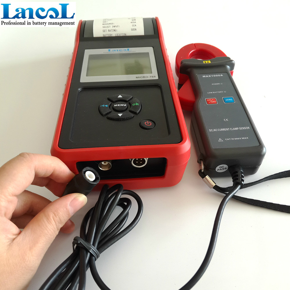 Lancol 12 v Auto-batteria del rivelatore tester di carico con stampante MICRO-768A/analizzatore di batteria Auto batteria Auto Strumento di Diagnostica