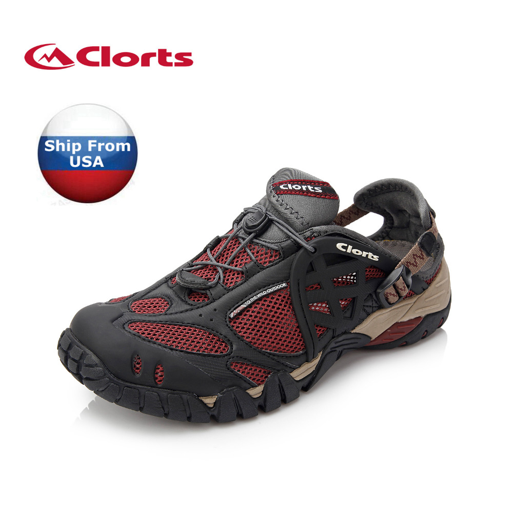 (Shipped From USA Warehouse)2018 Clorts Men Water Shoes Summer Outdoor Beach Shoes Quick-dry Aqua Shoes Free Shipping WT-05B/C/G