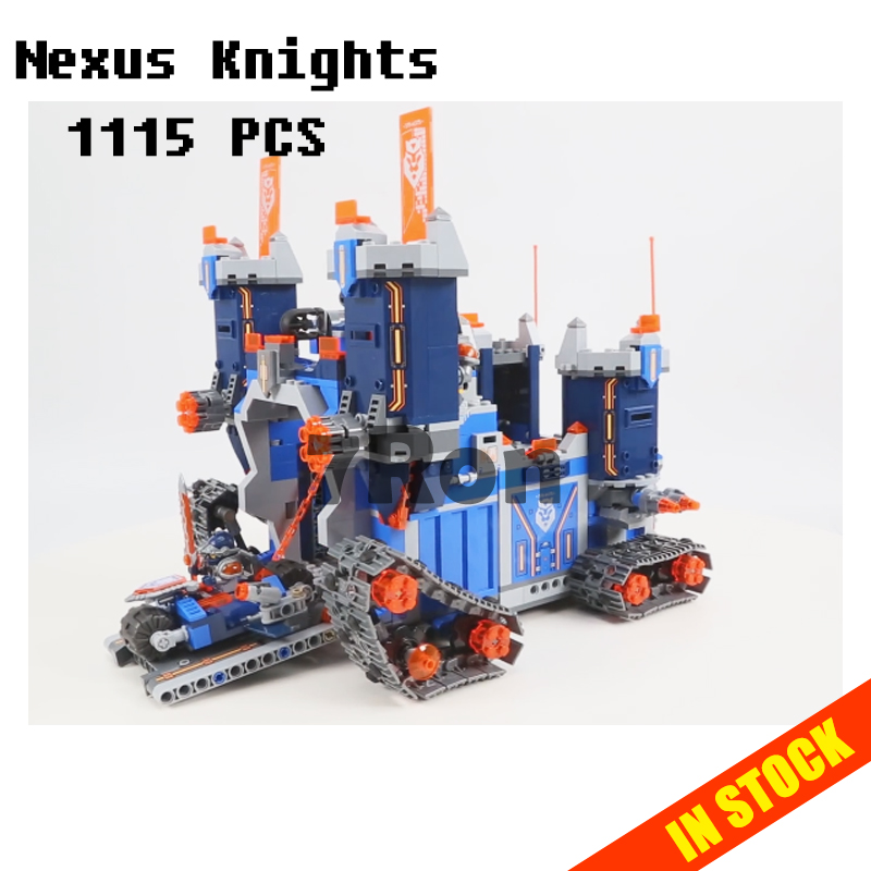 Models building toy 14006 1115pcs Nexus Knights The Fortrex Castle Building Blocks Compatible with lego 70317 toys & hobbies single sale medieval castle knights dragon knights the hobbits lord of the rings figures with armor building blocks brick toys