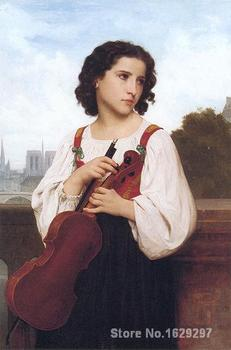wall art Alone in the world William Adolphe Bouguereau Paintings Hand painted High quality