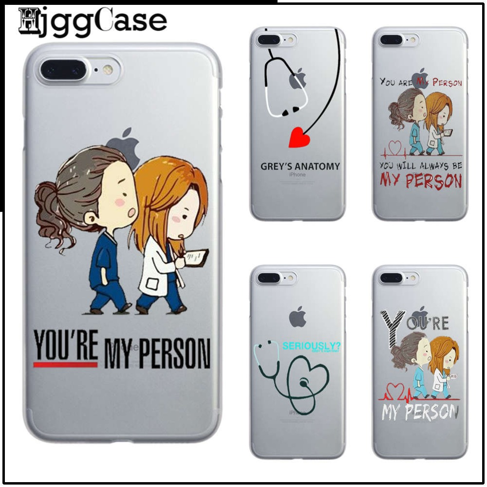 You\'re My Person For Fundas iPhone 7 4 5 SE 5S 6 6S Plus Greys ...
