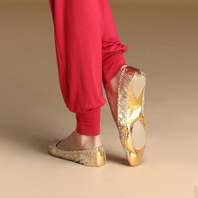 Brand Anklets One Pair Belly Dance Accessory Practice  Ballet Flat Gold Flats Soft Leather Pointe Gymnastics Foldable
