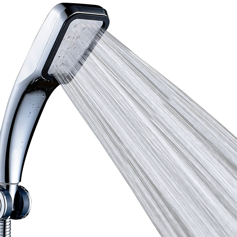 Square Shower Nozzle 300 Holes High Pressure Saving Rainfall Chrome Shower Home Bathroom Supplies With Pipe Bracket