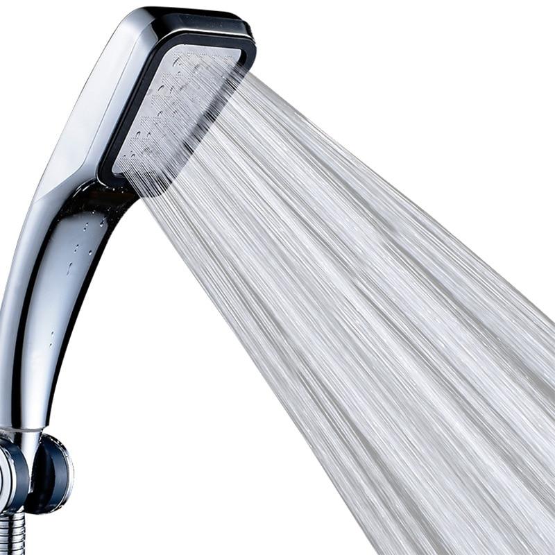 Square Shower Nozzle 300 Holes High Pressure Saving Rainfall Chrome Shower Home Bathroom Supplies With Pipe Bracket