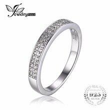 Jewelrypalace cubic zirconia channel set wedding band anillo de eternidad aniversario regalo de la joyería de plata de ley 925 para las mujeres