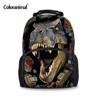 Coloranimal 3D Animal Shark Tropical Fish Dinosaur Men School Backpack Escolar Shoulder Book Bags for Male Customized Rusksack