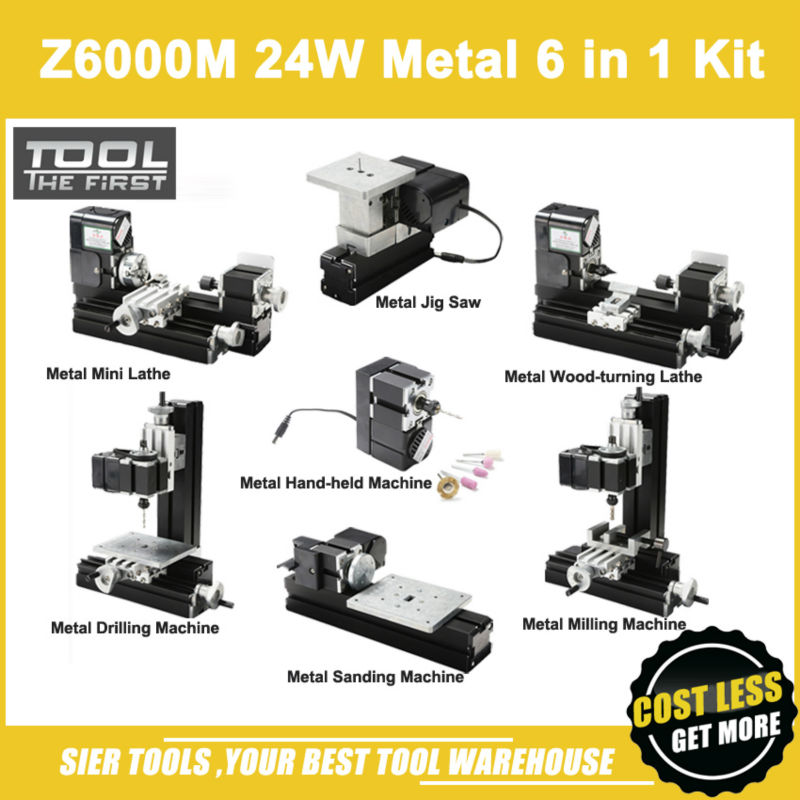 Z6000M 24W Metal 6 in 1 Mini lathe kit/24W,20000rpm 6in1 Mini Metal Lathe /DIY mini latheZ6000M 24W Metal 6 in 1 Mini lathe kit/24W,20000rpm 6in1 Mini Metal Lathe /DIY mini lathe