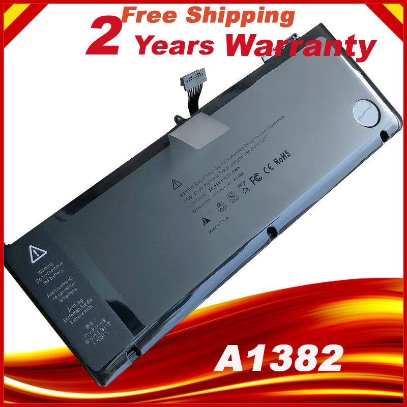 A1382 Battery For Apple macbook pro a1286 15.4 inch early 2011 intel core i7 laptop new laptop battery for apple macbook pro a1382 a1286 only for core i7 early 2011 late 2011 mid 2012 15 i7 661 5476 661 5211