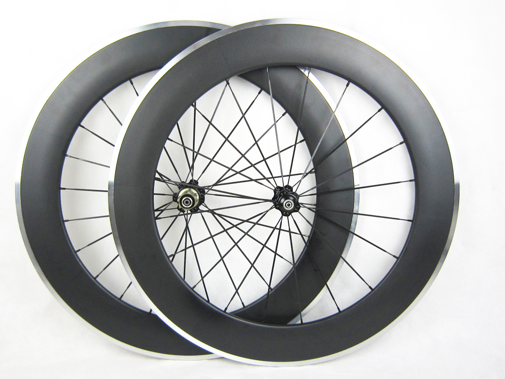 60mm deep carbon road bicycle clincher wheels front wheel only 700C 23mm width