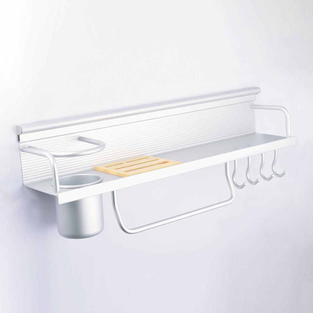 A1 multi-outils rack assaisonnement baril outil rack salle de bain espace en aluminium cuisine pendentif suspendu rack LU4286