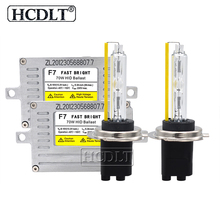 HCDLT AC 12V Fast Bright 70W DLT F7 Fast Start Slim HID Ballast Kit Xenon H7