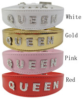 Pet Supplies Dog Accessories Dog Collar Dog Rope Rhinestone Letter Necklace Leather Collar
