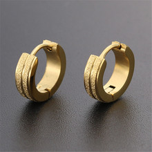 New Arrival Trendy Gold Silver Color Ear Clip For Women Men Stainless Steel Cool Stud Earrings Fashion Jewelry wholesale