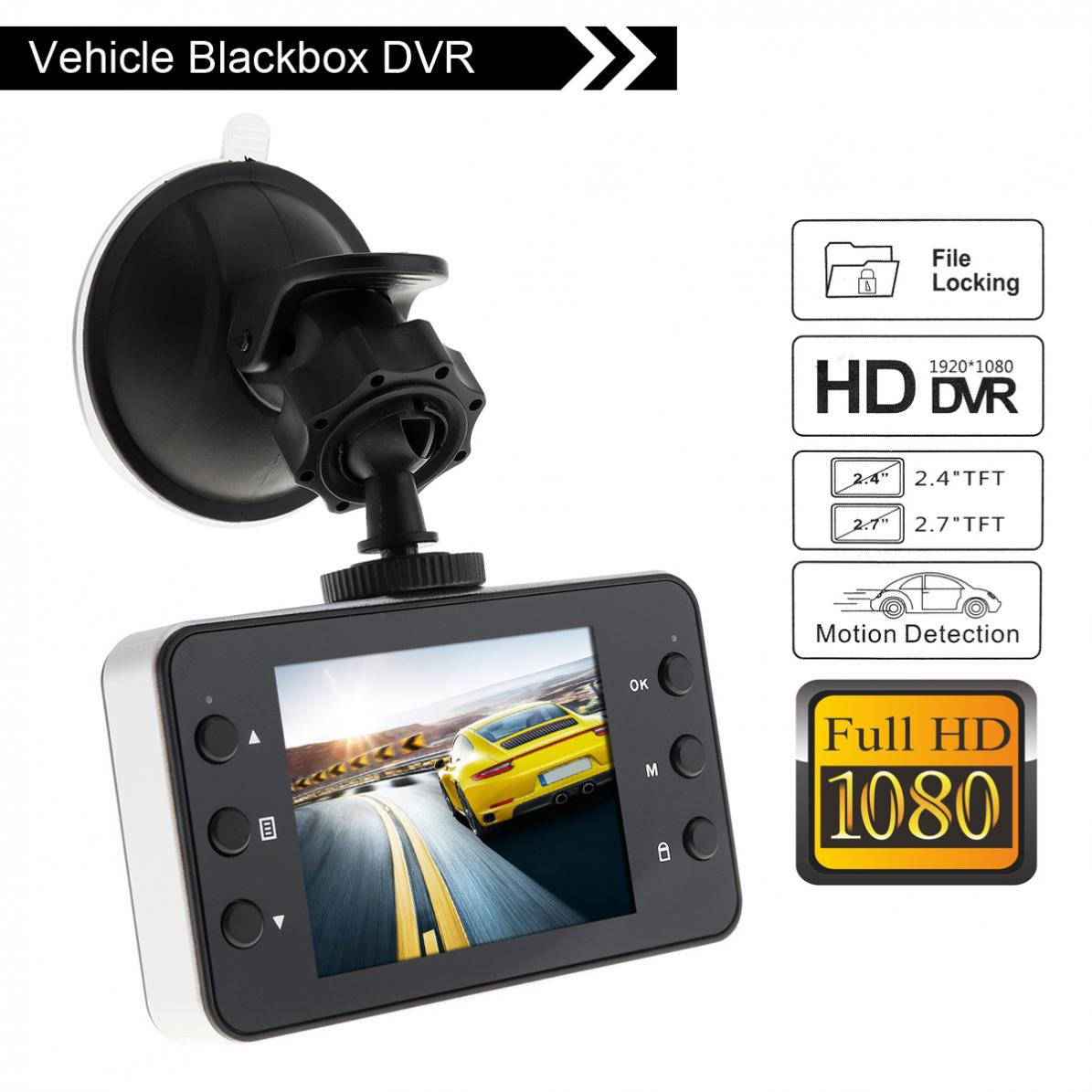 Car DVR Camera Auto-Camcorder Motion-Detection Dash-Cam G-Sensor 1080P HD
