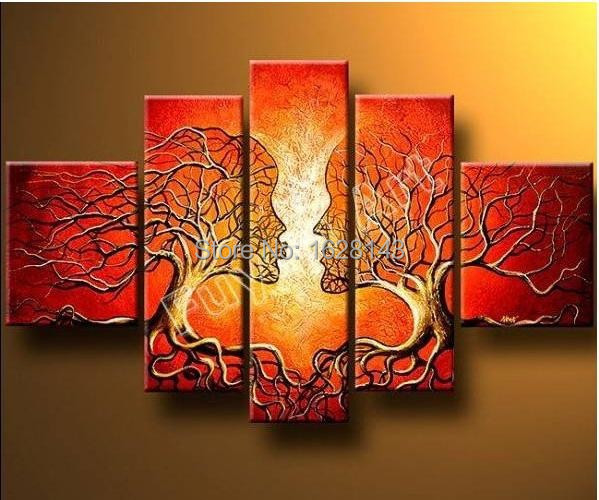 Hand Made Modern Abstract Oil Painting Ideas Home Decoration Canvas