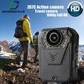 Nova câmera ação full hd 1080 p 2.7 K deportiva camara cam mergulho digital de visão Noturna ao ar livre da bicicleta do esporte corpo câmera