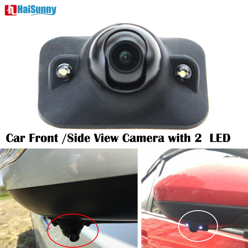 HaiSunny Car Side Camera For Mazda with 2 LED Blind Spot Area Shooting Waterproof Without Drilling Camera Left Right