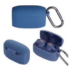 Clamshell Opening Anti-shock Silicone Protective Earphone Case Full Cover for Jabra Elite Active 65t Accessories
