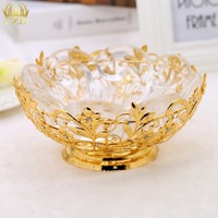 1 Piece Crystal Compote Centerpiece Plate Dish Tray Cake Candies Dessert Buffet Display Stand For Wedding