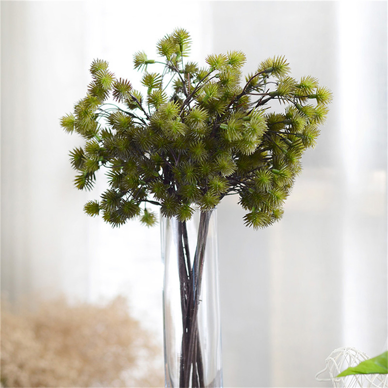 New 1pcs artificial pine tree flexible dried branches for Artificial leaves for decoration