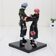 2pcs/set 16-18cm Naruto Hatake Kakashi VS Sasori pvc Action Figures PVC Model Toys Naruto Figures