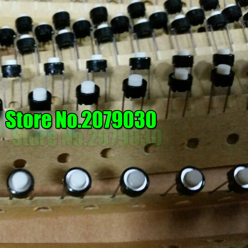 6*6*5mm DIP 6X6X5 mm Tactile Tact Push Button Micro Switch Momentary for ALPS white head