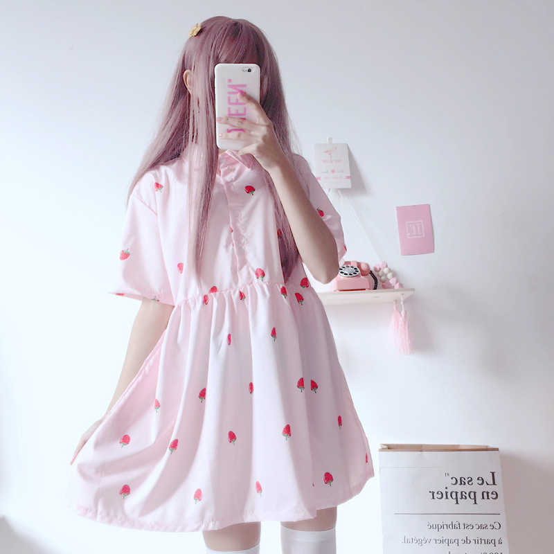 Neck japanese dresses for girls